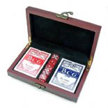 Playing Cards with Dice in Brown Box PERSONALISED ref PC5D